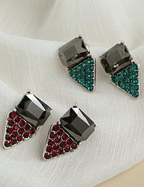 Fashion White Alloy Diamond Earrings