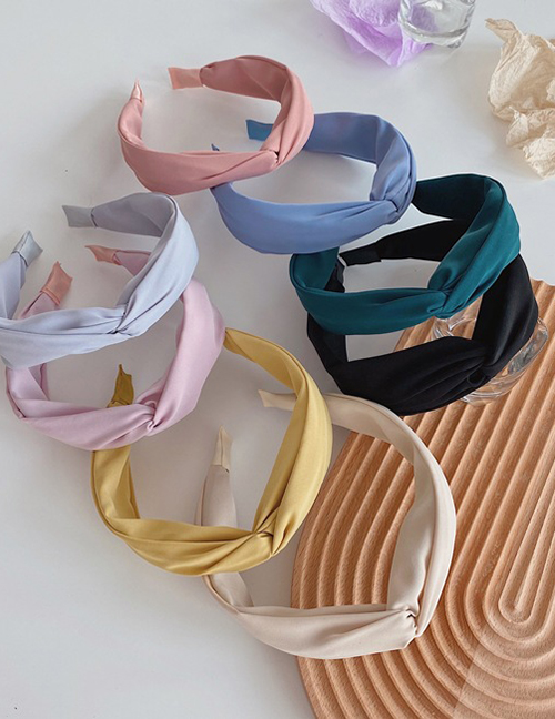 Fashion Yellow Solid Color Hair Bands