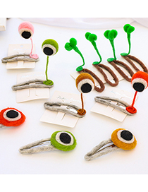 Fashion Green Bean Sprouts Wool Blanket Eye Hit Color Alloy Hairpin