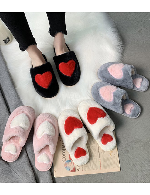 Fashion Pink Love Baotou Home Non-slip Indoor Slippers
