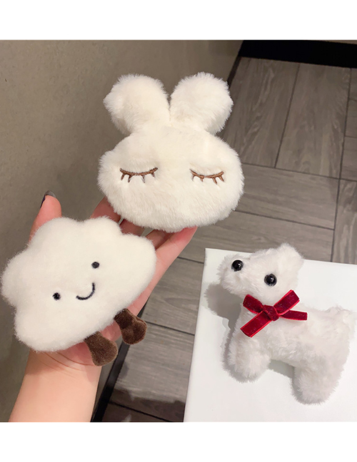 Fashion Rabbit (hairpin And Brooch Dual Purpose) Cloud Puppy Plush Brooch Hairpin Dual Use