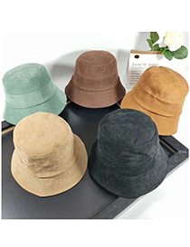 Fashion Mustard Green Stitching Solid Color Small Along Fisherman Hat