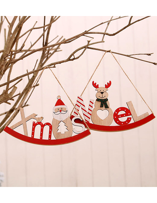 Fashion Deer Elk Snowman Trojan Christmas Letter Card Pendant