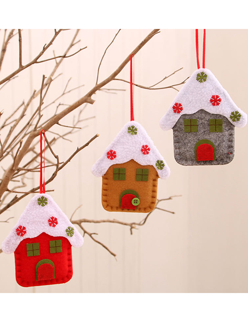 Fashion Gray House Contrast Christmas Tree Pendant