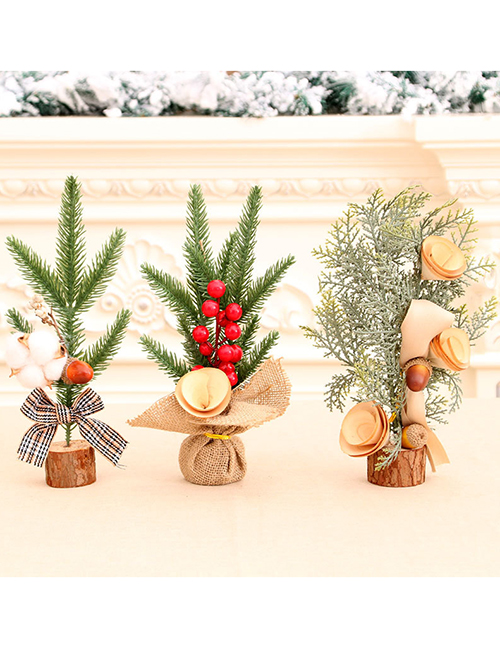 Fashion Cotton 25cm Potted Christmas Tree Decoration Desktop