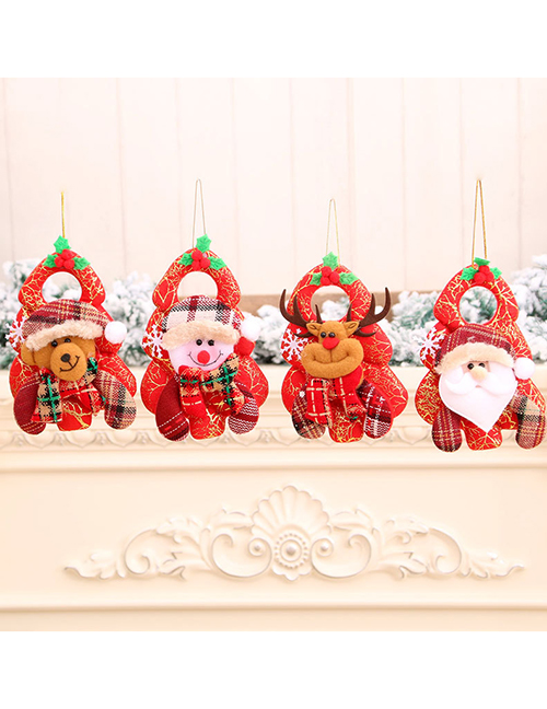 Fashion Bear Santa Claus Elk Snowman Door Hanging Decoration