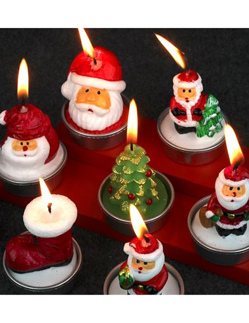 Fashion Pine Cones (pack Of 3) Christmas Boots Old Man House Christmas Candle