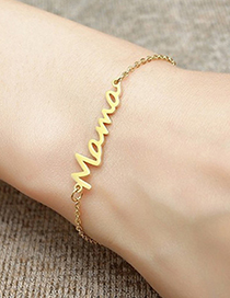 Fashion Ring-steel Stainless Steel Letter Hollow Necklace Ring Bracelet