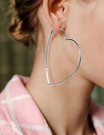 Fashion Round Small Silver Alloy Geometric Round Five-pointed Star Earrings
