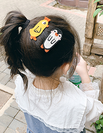 Fashion Little Lion Wool Knitted Animal Alloy Hairpin For Children