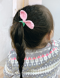 Fashion Red Bunny Ears Knitted Childrens Hair Rope