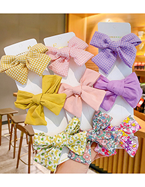 Fashion Green Fabric Bow Hairpin [3-piece Set] Floral Bow Childrens Hairpin Set