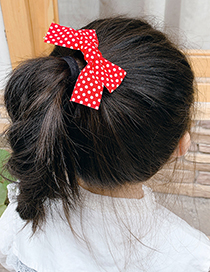 Fashion Pure Color Bow Hairpin [5 Piece Set] Small Lattice Bowknot Childrens Hairpin Set