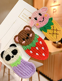 Fashion Calf Animal Knitted Color Alloy Childrens Hairpin