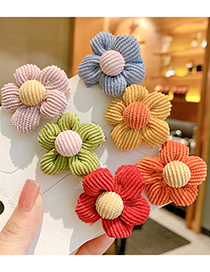 Fashion Pink Flowers [hairpin] Flower Fabric Contrast Color Children Hairpin