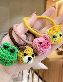 Fashion Little Yellow Dog Woolen Animal Knitted Childrens Hair Rope