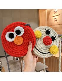 Fashion Yellow Chicken [buckle] Knitted Animal Smiley Children Messenger Bag