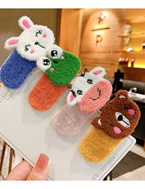 Fashion Little White Rabbit [duckbill Clip] Fruit Animal Felt Alloy Children Hairpin