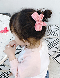 Fashion Purple Bow Childrens Hairpin With Woolen Bow
