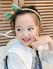 Fashion Bow Hair Band [pink] Knitted Bowknot Rabbit Ears Childrens Headband