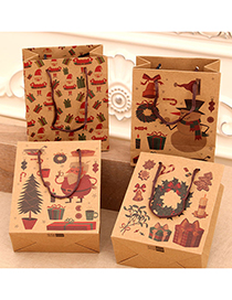 Fashion Garland Christmas Kraft Paper Gift Bag
