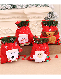 Fashion Bear Christmas Bear Print And Receive Pocket