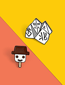 Fashion Old Man Ding Childhood East West North And South Origami Game Smiley Ice Cream Ding Old Man Pin