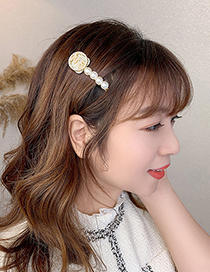 Fashion Letter Hairpin Knitted Diamond Number Round Alloy Hairpin