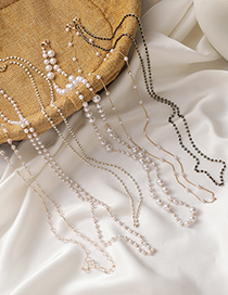 Fashion Pearl Pearl Crystal Beaded Necklace