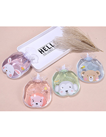 Fashion Cactus-3 Transparent Portable Water Injection Printing Hot Water Bottle