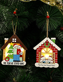 Fashion Type B Survivor Pendant With Light Christmas Pendant Face Mask Old Wooden Christmas Tree Ornaments With Lights (live)