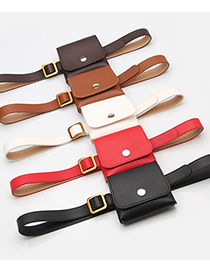 Fashion Coffee Waist Bag Key Mobile Phone Dual Purpose Thin Belt