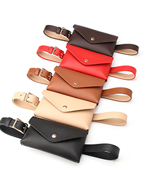Fashion Camel Thin Belt Belt Bag With Japanese Buckle
