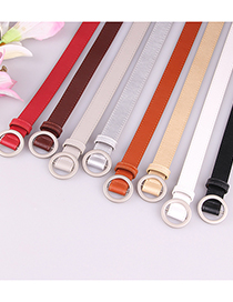 Fashion Coffee Thin Belt For Jeans Without Holes