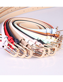 Fashion Leopard Pu Leather Alloy Pin Buckle Carved Love Belt