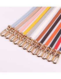 Fashion Coffee Pin Buckle Pu Leather Alloy Geometric Thin Belt