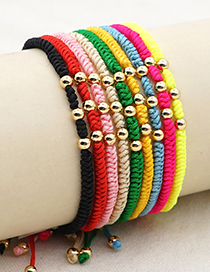 Fashion Fluorescent Color Gold-plated Acrylic Gold Beads Handmade Beaded Bracelet