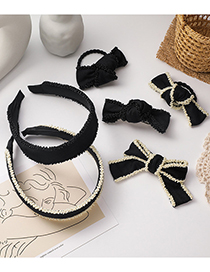Fashion Bow Knot (hairpin) Bowknot Knotted Handmade Beaded Hair Rope Hairpin Hair Band