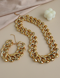 Fashion Gold Color Resin Chain Necklace  Resin