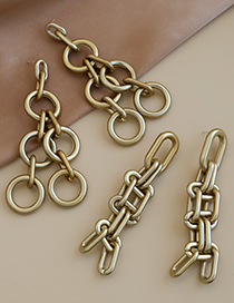 Fashion Gold Color Gray Resin Chain Tassel Earrings  Resin