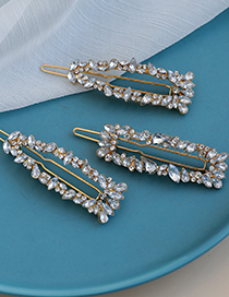 Fashion Gold Color Alloy Diamond-studded Hairpin Set  Alloy