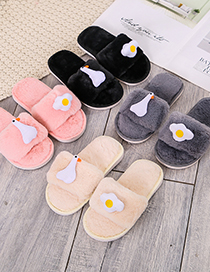 Fashion White Soft Bottom Non-slip Plush Chicken Duck And Bird Slippers For Children