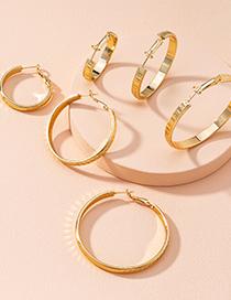 Fashion Small Big Circle Alloy Earrings
