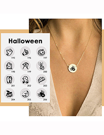 Fashion Rose Gold Color Ghost Halloween Stainless Steel Ghost Ghost Geometric Necklace
