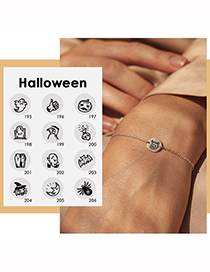 Fashion Gold Color Book Halloween Stainless Steel Ghost Ghost Geometric Bracelet