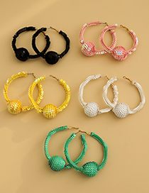 Fashion Pink Alloy Sequin Round Earrings