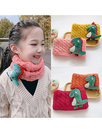 Fashion [purple] 6 Months-10 Years Old Dinosaur Thick Knitted Wool Scarf