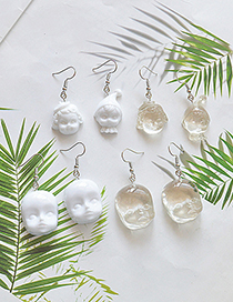 Fashion Transparent Doll Fairy Head Baby Face Resin Earrings