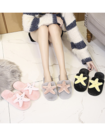 Fashion Baotou Starfish Powder Starfish Doll Flat Baotou Slippers