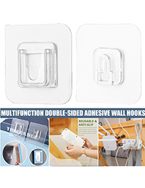 Fashion 6*6cm Female Buckle Non-marking Pin Buckle Punch-free Hook Holder